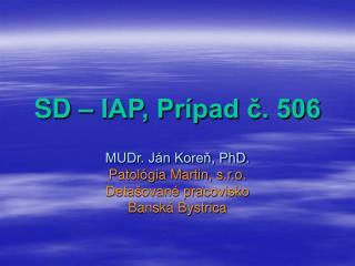SD – IAP, Prípad č. 506