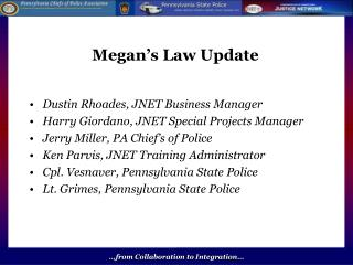 Megan�s Law Update