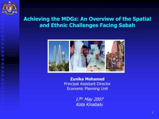 Achieving the MDGs: An Overview of the Spatial and Ethnic Challenges Facing Sabah