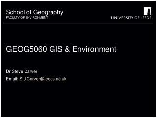 GEOG5060 GIS & Environment