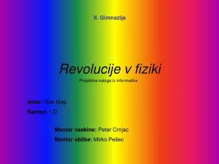 Revolucije v fiziki