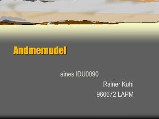 Andmemudel