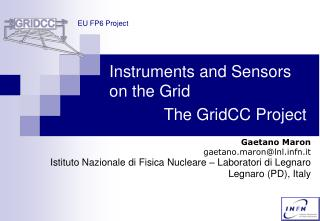 Instruments and Sensors on the Grid