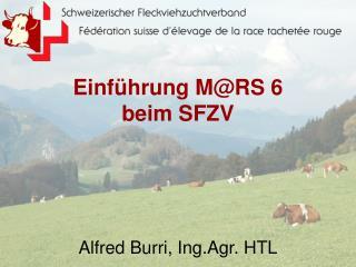 Einführung M@RS 6 beim SFZV