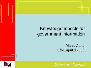 Knowledge models for government information