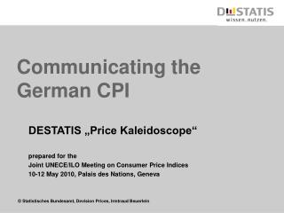 Communicating the German CPI