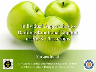 Individual Approaches to Building Emotional Support in Pre-K Classrooms
