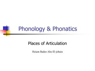 Phonology & Phonatics
