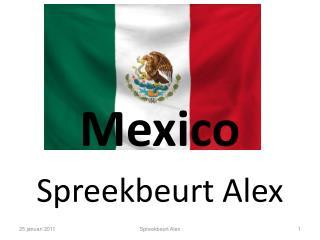 Mexico Spreekbeurt Alex