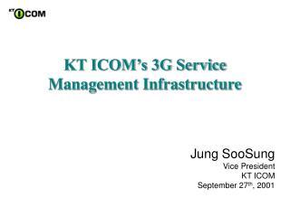 KT ICOM�s 3G Service Management Infrastructure