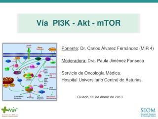 Ponente : Dr.  Carlos Álvarez Fernández (MIR 4) Moderadora:  Dra. Paula Jiménez Fonseca