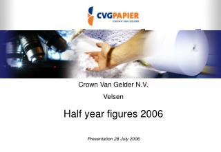 Crown Van Gelder N.V. Velsen