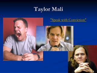 Taylor Mali