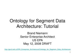 Ontology for Segment Data Architecture: Tutorial