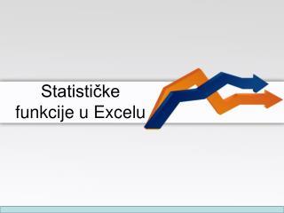 Statističke funkcije u Excelu