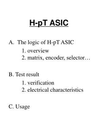 H-pT ASIC