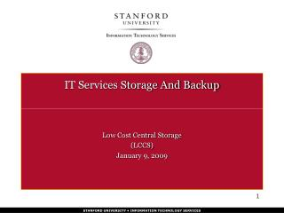 IT Services Storage And Backup