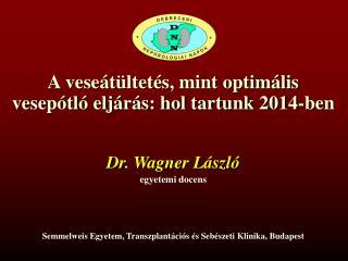 A veseátültetés, mint optimális vesepótló eljárás: hol tartunk 2014-ben