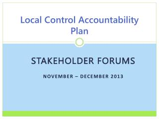 Local Control Accountability Plan
