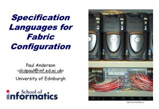 Specification Languages for Fabric Configuration