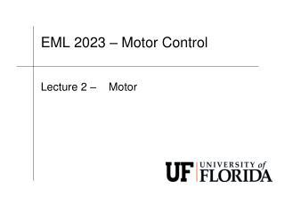 EML 2023 � Motor Control