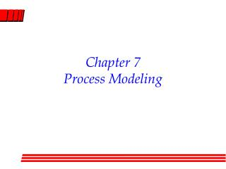 Chapter 7 Process Modeling