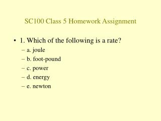 SC100 Class 5 Homework Assignment