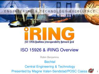 ISO 15926 & iRING Overview