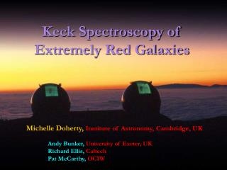 Keck Spectroscopy of Extremely Red Galaxies