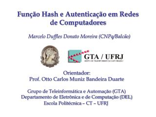 Função Hash e Autenticação em Redes de Computadores