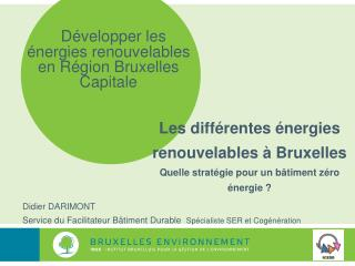 Développer les énergies renouvelables en Région Bruxelles Capitale