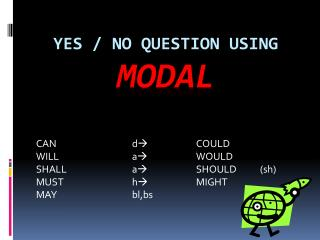 YES / NO QUESTION USING  MODAL