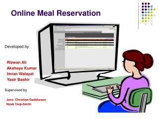 Online Meal Reservation