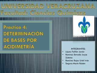 Practica 4: DETERMINACIÓN DE BASES POR ACIDIMETRÍA