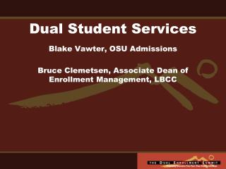 Dual Student Services