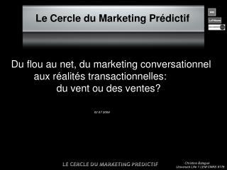 Le Cercle du Marketing Prédictif