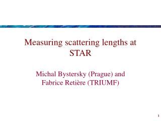 Measuring scattering lengths at STAR
