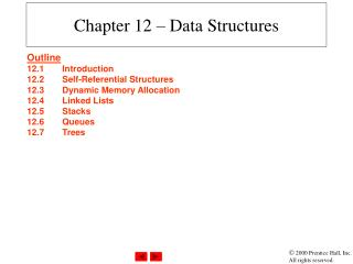 Chapter 12   Data Structures