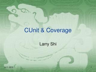 CUnit & Coverage