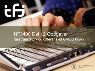 INF3400 Del 12  Oppgaver
