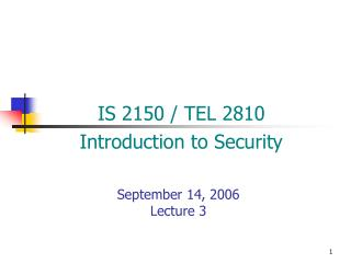 September 14, 2006 Lecture 3