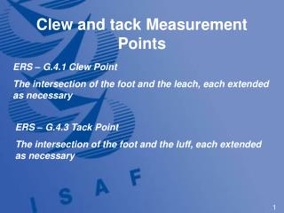 Clew and tack Measurement Points