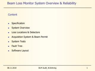 Beam Loss Monitor System Overview & Reliability