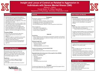 Insight and Locus of Control as Related to Aggression in