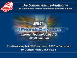Die Game-Feature-Plattform Der schrittweise Verkauf von Games über das Internet
