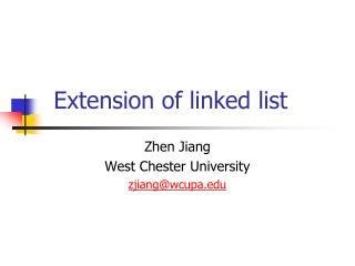 Extension of linked list