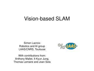 Vision-based SLAM