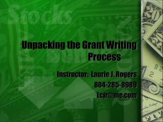Unpacking the Grant Writing Process