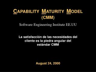 C APABILITY   M ATURITY   M ODEL  (CMM)