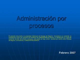Administraci n por procesos